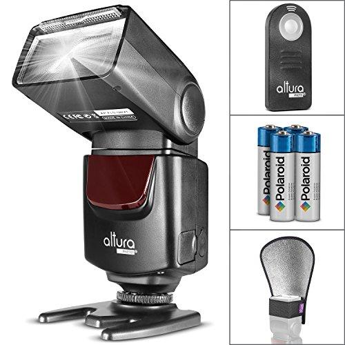 Altura Photo AP-UNV1 Bundle – DSLR Camera Flash Speedlite for Canon Nikon