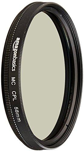AmazonBasics 58mm Polarizer Lens